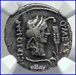 Metellus Scipio Enemy of Julius Caesar 47BC Ancient Silver Roman Coin NGC i78895