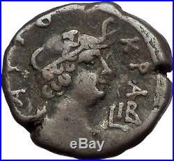 NERO 65AD Alexandria Silver Tetradrachm Authentic Ancient Roman Coin Rare i56243