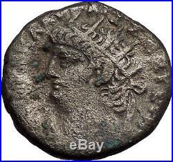 NERO 67AD Alexandria Egypt BIG Silver Authentic Ancient Roman Coin HERA i56041