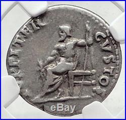 NERO Authentic Ancient 64AD Rome Genuine Original Silver Roman Coin NGC i72340