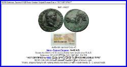 NERO Authentic Ancient 65AD Rome Genuine Original Roman Coin w VICTORY i76857