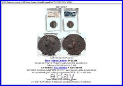 NERO Authentic Ancient 66AD Rome Genuine Original Roman Coin VICTORY NGC i80124