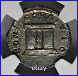NGC AU Diva Faustina Superb Denarius Wife of Marcus Aurelius Roman Silver Coin