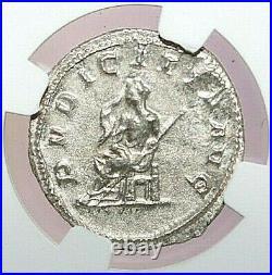 NGC AU ROMAN COINS Herennia Etruscilla, AD 249-253. AR Double-Denarius. MAX/022