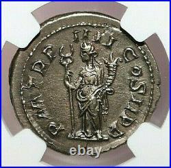 NGC AU ROMAN COINS PHILIP I, AD 244-249. AR Double-Denarius. MAX/019