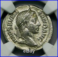 NGC AU. Severus Alexander. Outstanding Denarius. Ancient Roman Silver Coin