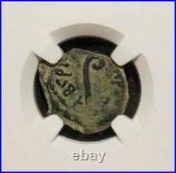NGC AUTHENTICATED Ch F Æ Pontius Pilate PRUTAH 26-36 ce under Tiberius
