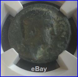 NGC Ancient Roman Coin Ae As Of Caligula(37-41)/Pegasus ReverseRAREF+bonus