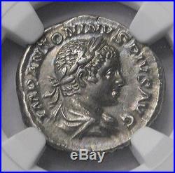 Ngc Ch Au 45 55 Elagabalus Magnificent Denarius Ancient