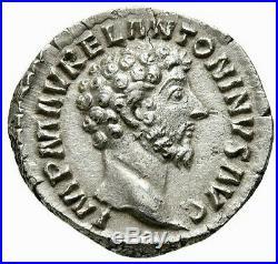 NGC Ch AU 5/5 3/5 Marcus Aurelius 169 AD. Denarius Ancient Roman Silver Coin