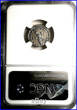 NGC Ch AU 5/5 4/5 Marcus Aurelius 168 AD. Denarius Ancient Roman Silver Coin