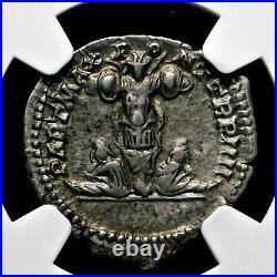NGC Ch XF. Caracalla Stunning Denarius Brother to Geta Ancient Roman Silver Coin