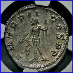 NGC Ch XF. Gordian III. Stunning Double-Denarius. Ancient Roman Silver Coin