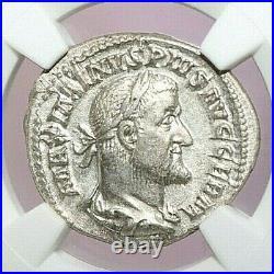 NGC Ch XF ROMAN COINS MAXIMINUS I, AD 235-238. AR Denarius. A747