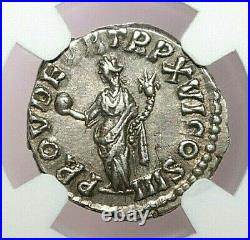 NGC Ch XF ROMAN COINS Marcus Aurelius, AD 161-180. AR Denarius. MAX/026