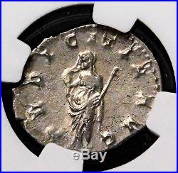 NGC Choice AU 4/5-4/5. H. Etruscilla Double-Denarius. Ancient Roman Silver Coin