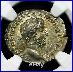 Ngc Ms 45 45 Marcus Aurelius Exceptional Denarius