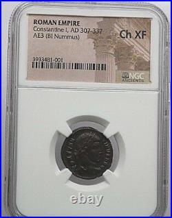 NGC ROMAN COIN Constantine I, AD 307-337. AE3 (BI Nummus)CH XF. Nr. 370