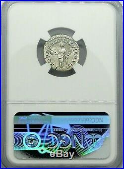 NGC VF 5/5-3/5 Marcus Aurelius. Denarius Superior Silver Ancient Roman Coin