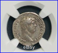 NGC VF Hadrian Denarius AD 117-138 Ancient Roman Silver Coin
