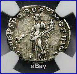 NGC VF. Trajan. Outstanding Denarius, circa 103-111 AD Ancient Roman Silver Coin