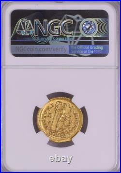 NGC Western Roman Empire, Honorius AD 393-423 Ancient Gold Coin