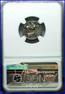 NGC XF Roman Republic. Q. Titius c. 90 BC Exquisite Ancient Denarius Silver Coin