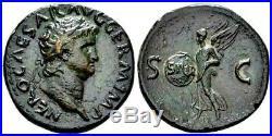 Nero (AD 54-68) Outstanding Æ As. Excellent Portrait. Ancient Roman Bronze Coin