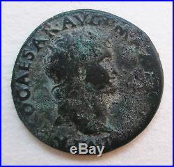 Nero Roman Ancient Bronze Coin Archaeology