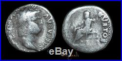 Nero Rome Jupiter Ancient Roman Denarius Coin 022774