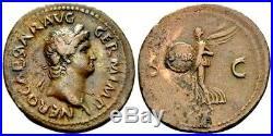Nero. Stunning As circa AD 65. Ancient Roman Bronze Coin