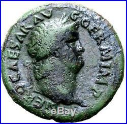 Nero. Superb As Struck AD 64-67. Ancient Roman Bronze Coin