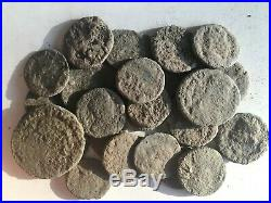 Nice anciente lot 25f Roman uncleaned coins