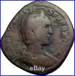 OTACILIA SEVERA Philip I wife 247AD Big Sestertius Ancient Roman Coin i74217