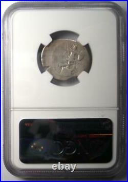 Octavian Augustus AR Denarius Silver Coin 30-29 BC Certified NGC Choice Fine