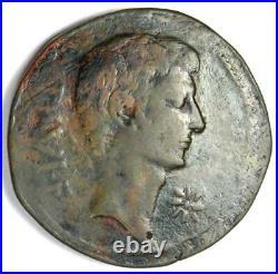 Octavian and Divus Julius Caesar AE Sestertius Coin 38 BC Good Fine / VF
