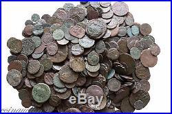 One Bid One Lot Of 100 Ancient Greek Roman Byzantine & Pirates Ae Coins