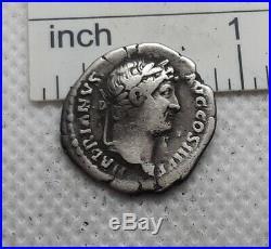 Original Ancient ROMAN SILVER COIN denarius GALLEY imp. Hadrian 117-138 AD#326