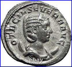 Otacilia Severa 247AD Rome Silver Authentic Ancient Roman Coin Concordia i59007