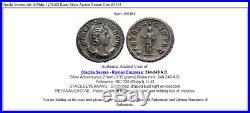 Otacilia Severa wife of Philip I 248AD Rome Silver Ancient Roman Coin i65364