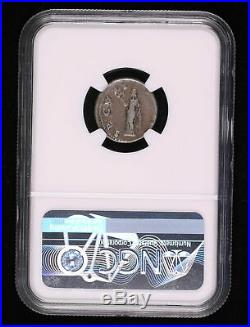 Otho 69 Ad Denarius Ancient Roman Coin Securitas Standing Ngc F 4/5 2/5 #972-001