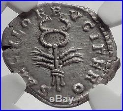 PERTINAX 193AD Silver Denarius Authentic Ancient Roman Coin Caduceus SUPERB NGC