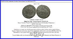 PHILIP I 244AD Viminacium Sestertius Ancient Roman Coin Bull & lion i21799