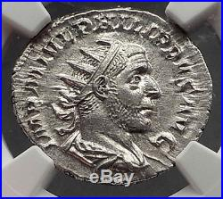 PHILIP I the ARAB 247AD Rome Authentic Ancient Silver Roman Coin NGC MS i60512