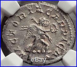 PHILIP I the ARAB 247AD VICTORIA CARPICA Rare Ancient Silver Roman Coin NGC MS