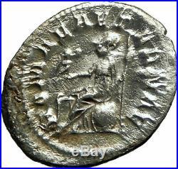 PHILIP I'the Arab' 247AD Rome Silver Authentic Ancient Roman Coin ROMA i76137