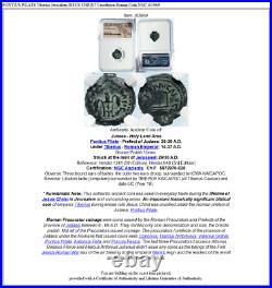PONTIUS PILATE Tiberius Jerusalem JESUS CHRIST Crucifixion Roman Coin NGC i83969
