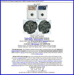 PONTIUS PILATE Tiberius Jerusalem JESUS CHRIST Crucifixion Roman Coin NGC i84277