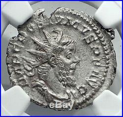 POSTUMUS Authentic Ancient 260AD Gallic Empire Silver Roman Coin NGC i77886