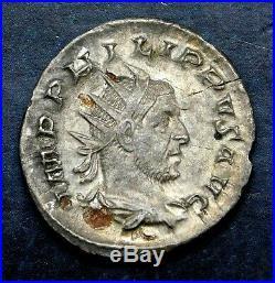 Philip I. Stunning Double-Denarius. Ancient Roman Silver Coin